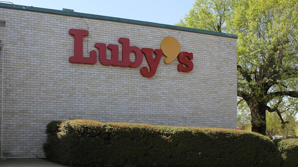 Tyler, TX - March 26, 2019: Abandoned Luby's Restaurant.