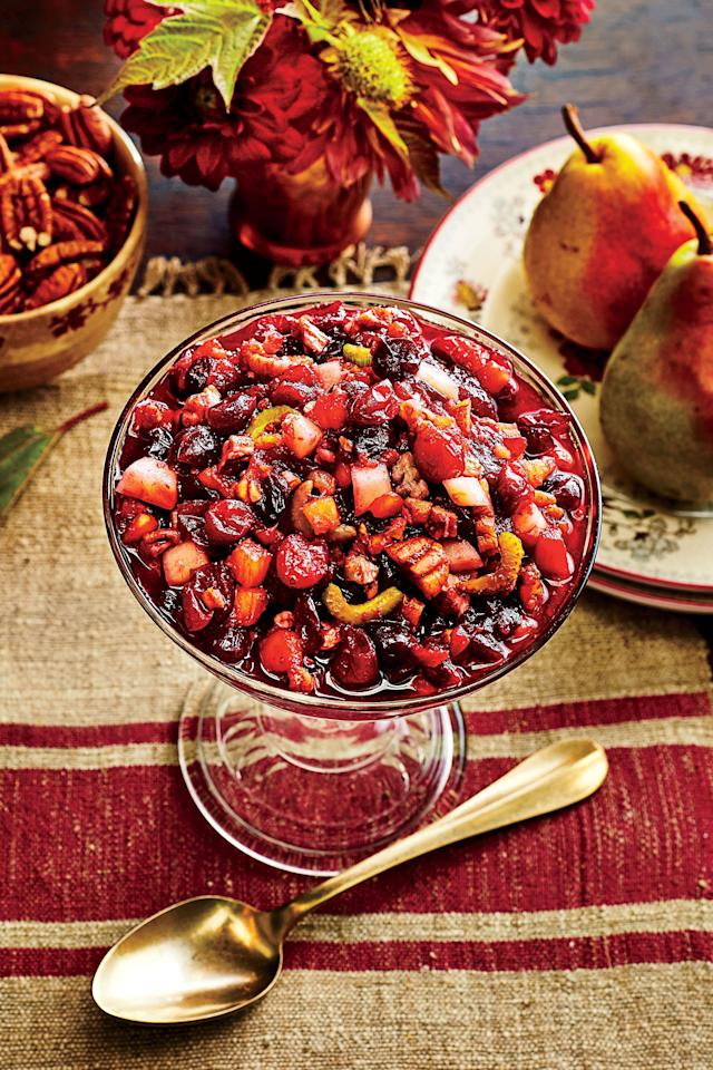 "<p><b>Recipe: </b><a href=""https://www.southernliving.com/recipes/classic-cranberry-salad-recipe""><b>Classic Cranberry Salad</b></a></p> <p>Ditch the wobbly cranberry sauce for something with a bit more texture. This Cranberry Salad is still true to the classic fruity flavors, but it's studded with pecans for added crunch.</p>"