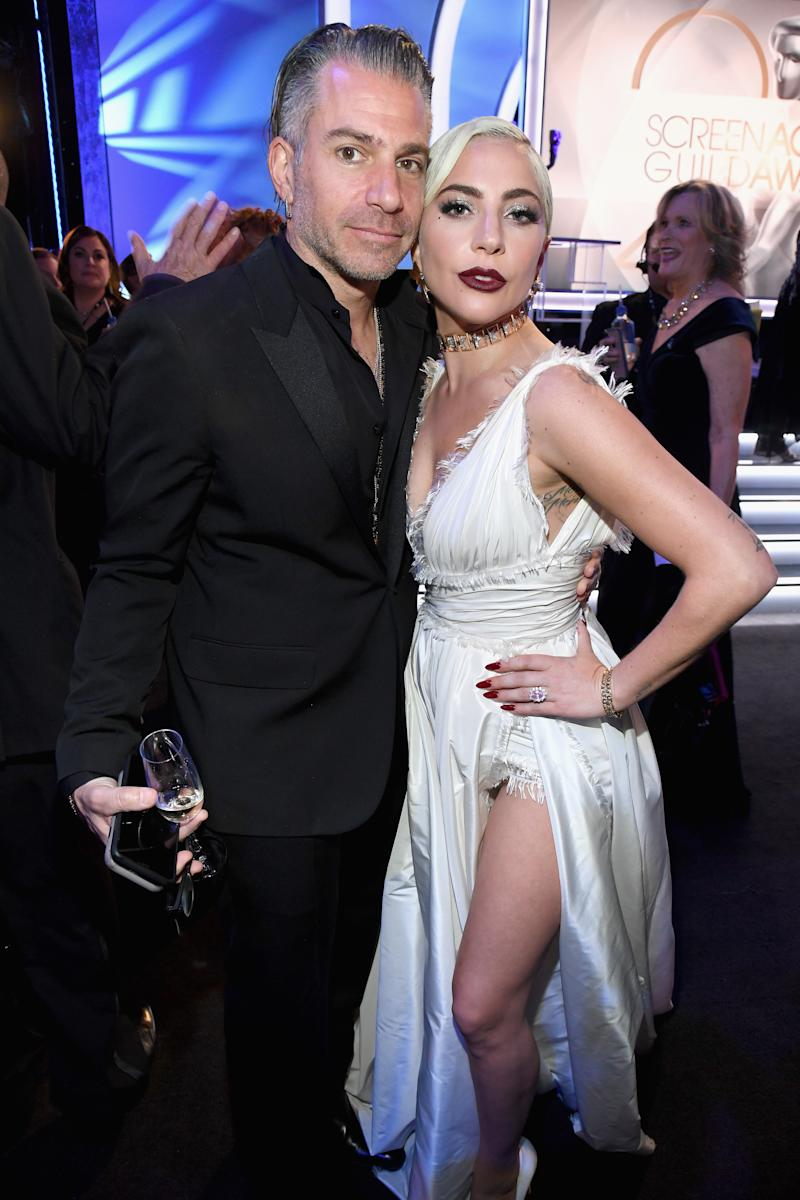 LOS ANGELES, CA - JANUARY 27: Christian Carino and Lady Gaga attend the 25th Annual Screen ActorsGuild Awards at The Shrine Auditorium on January 27, 2019 in Los Angeles, California. 480568 (Photo by Kevin Mazur/Getty Images for Turner)