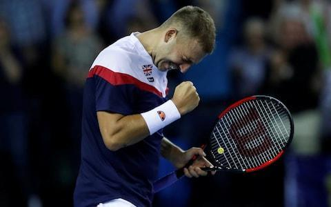 <span>Dan Evans took more than four hours to beat his Uzbek opponent</span> <span>Credit: reuters </span>