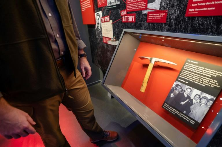 The axe that killed Leon Trotsky now a museum exhibit