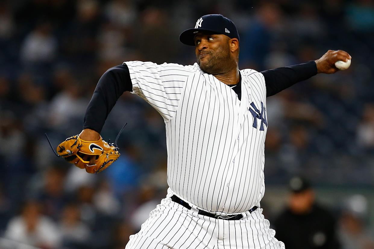 NEW YORK, NY – SEPTEMBER 21: CC Sabathia #52 of the New York Yankees in action against the Baltimore Orioles at Yankee Stadium on September 21, 2018 in the Bronx borough of New York City. New York Yankees defeated the Baltimore Orioles 10-8. (Photo by Mike Stobe/Getty Images