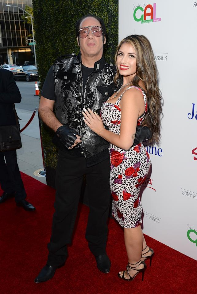 BEVERLY HILLS, CA - JULY 24: Comedian Andrew Dice Clay and wife Valerie Vasquez arrive at the premiere of 'Blue Jasmine' hosted by AFI & Sony Picture Classics at AMPAS Samuel Goldwyn Theater on July 24, 2013 in Beverly Hills, California. (Photo by Jason Merritt/Getty Images)