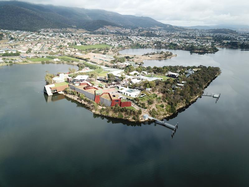 MONA Museum, on Tasmania's suburb of Glenorchy. (Source: Getty)