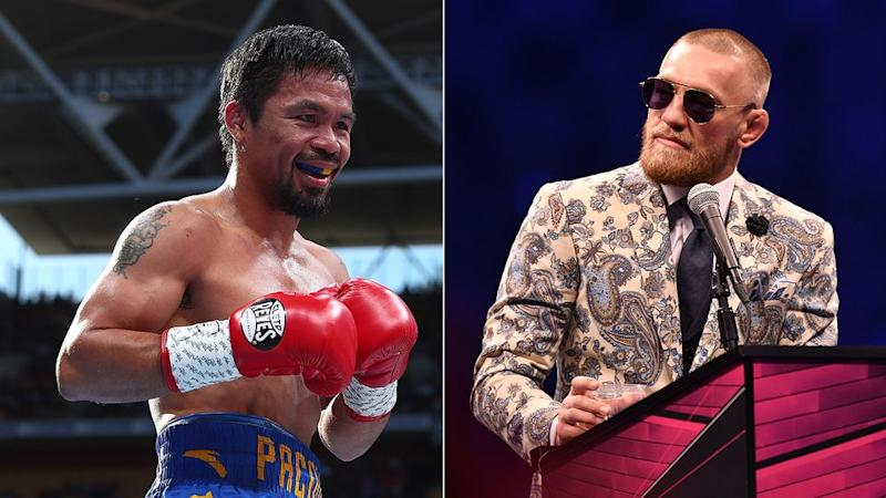 Pacquiao says talks have begun regarding a fight with McGregor. Pic: Getty