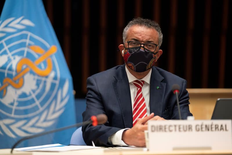FILE PHOTO: World Health Organisation (WHO) Executive Board session on the COVID-19 response in Geneva