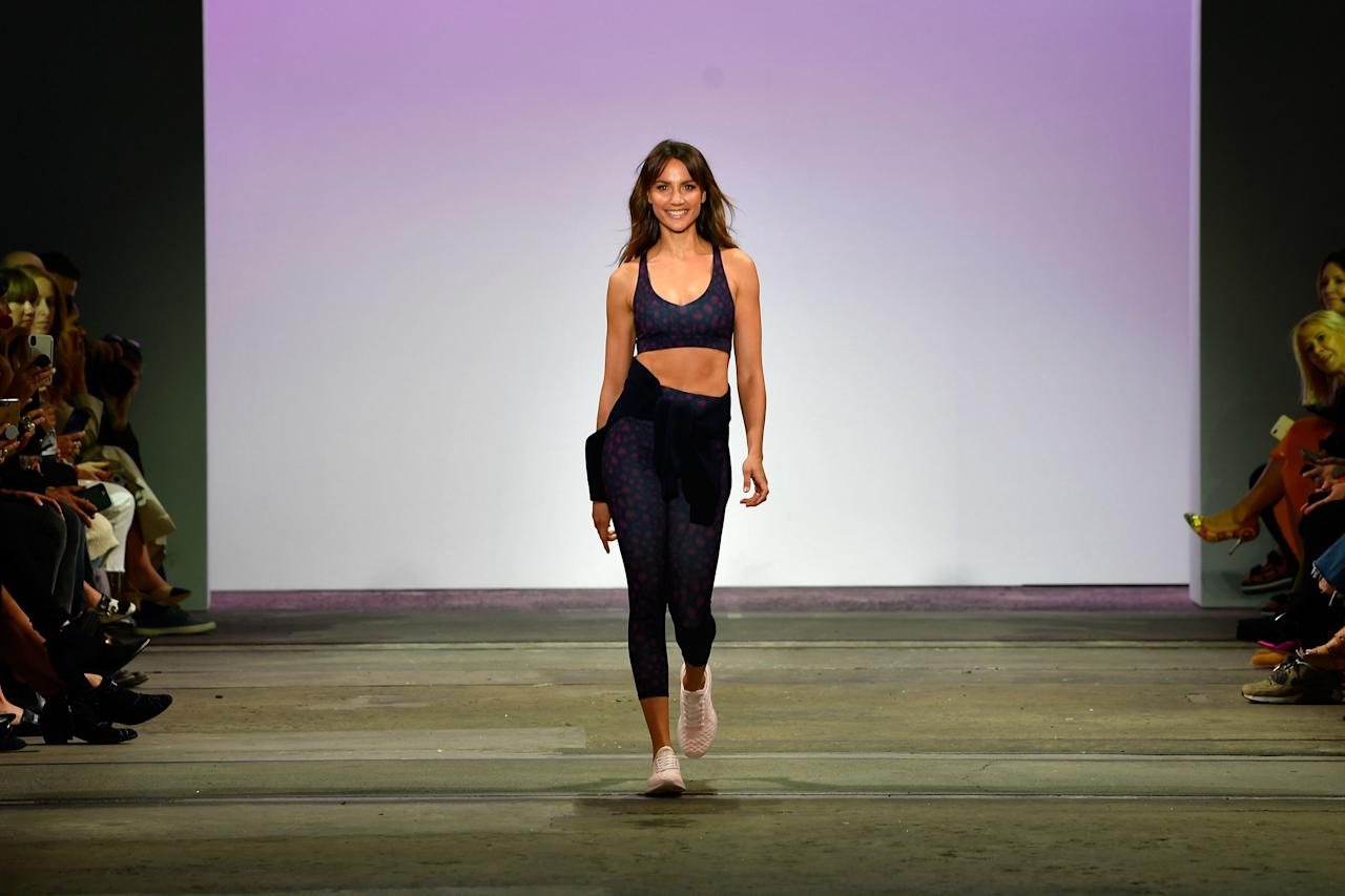 <p>The model hits the runway on Thursday. Source: Getty </p>