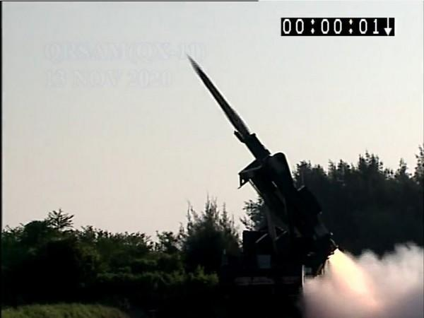 DRDOsuccessfully tested firing of Quick Reaction Surface to Air Missile system in Odisha. (Photo/ANI)