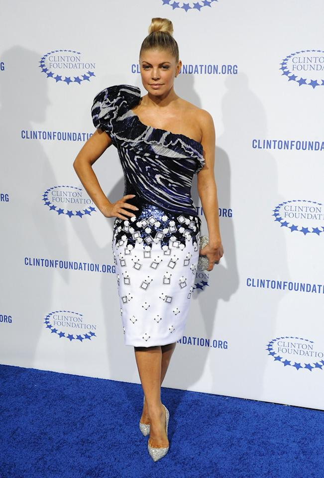 Fergie arrives at President Clinton's 65th Birthday Gala on October 14, 2011, in Hollywood, California. <br><br>(Photo by Stephanie Cabral/Yahoo!)