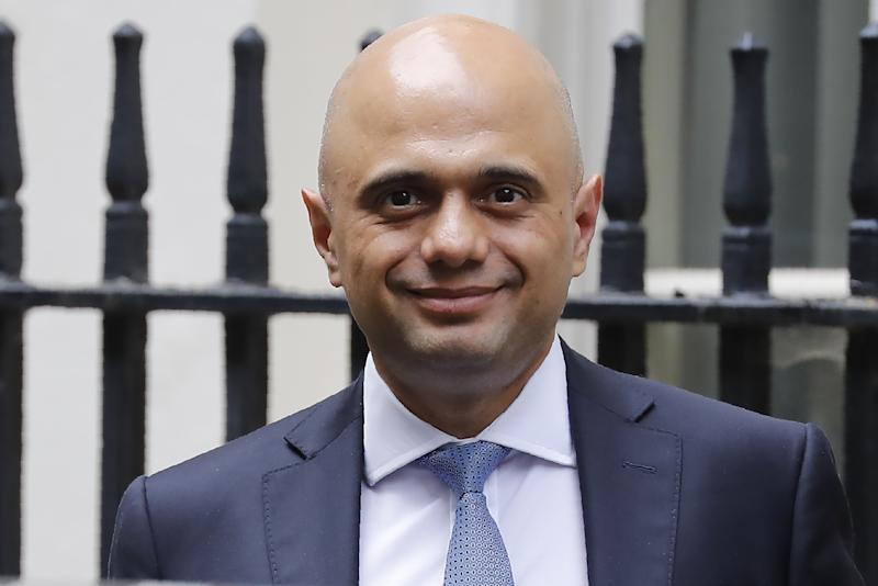 Britain's Chancellor of the Exchequer Sajid Javid leaves number 11 Downing Street in central London on August 2, 2019. (Photo by Tolga AKMEN / AFP) (Photo credit should read TOLGA AKMEN/AFP/Getty Images)