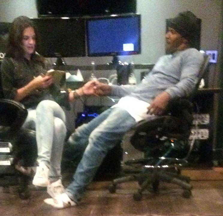 In February 2015, someone sneaky snapped this grainy photo of Katie Holmes and Jamie Foxx holding hands. (Photo: Splash News)