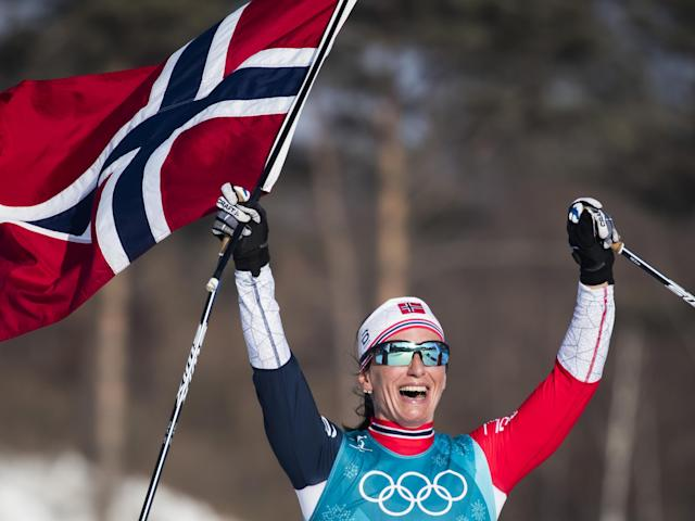 Marit Bjorgen won the final gold medal of the 2018 Games: Getty Images
