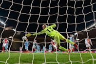 Manchester City were eliminated from the Champions League in stunning fashion as they blew a 5-3 first leg advantage to go out on away goals following a 3-1 defeat at Monaco (AFP Photo/Pascal GUYOT)