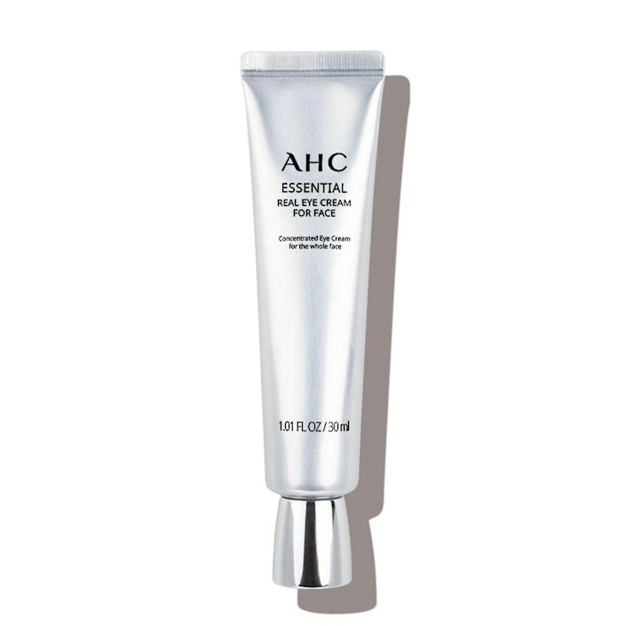 """<p>You know that feeling when you've finally been let in on a secret? That was my reaction when I learned of AHC's Eye Cream For Face, a tube of which is sold every three seconds in South Korea, so it's clearly in high demand. For years, <a href=""""https://www.allure.com/story/greta-lee-america-the-beautiful-interview?mbid=synd_yahoo_rss"""" rel=""""nofollow noopener"""" target=""""_blank"""" data-ylk=""""slk:Korean actors"""" class=""""link rapid-noclick-resp"""">Korean actors</a> used <a href=""""https://www.allure.com/gallery/the-12-best-eye-creams?mbid=synd_yahoo_rss"""" rel=""""nofollow noopener"""" target=""""_blank"""" data-ylk=""""slk:eye creams"""" class=""""link rapid-noclick-resp"""">eye creams</a> as allover facial treatments, so AHC created an eye cream for the face, with concentrated levels of <a href=""""https://www.allure.com/story/what-is-hyaluronic-acid-skin-care?mbid=synd_yahoo_rss"""" rel=""""nofollow noopener"""" target=""""_blank"""" data-ylk=""""slk:hyaluronic acid"""" class=""""link rapid-noclick-resp"""">hyaluronic acid</a> in a tube that's double the size of your average eye cream. Around my eyes, it soothes the ache of late nights watching Netflix and long days staring at the computer screen. On my forehead and smile lines, it keeps the concealer from settling into the creases. I keep one tube in my bathroom and one in my travel bag. Since it was created to use on your entire face, I skip packing moisturizer and just use this multipurpose cream for all-over hydration. I've even been known to put it on my dry lips before applying lipstick. </p> <p>— Jessica Cruel, content director</p> <p><a href=""""https://subscriptions.allure.com/pubs/N3/ALL/ALB_Login.jsp?cds_page_id=248731&cds_mag_code=ALL&id=1620654811310&lsid=11300853313057612&vid=1"""" rel=""""nofollow noopener"""" target=""""_blank"""" data-ylk=""""slk:+Get it here+"""" class=""""link rapid-noclick-resp""""><strong>+Get it here+</strong></a></p>"""