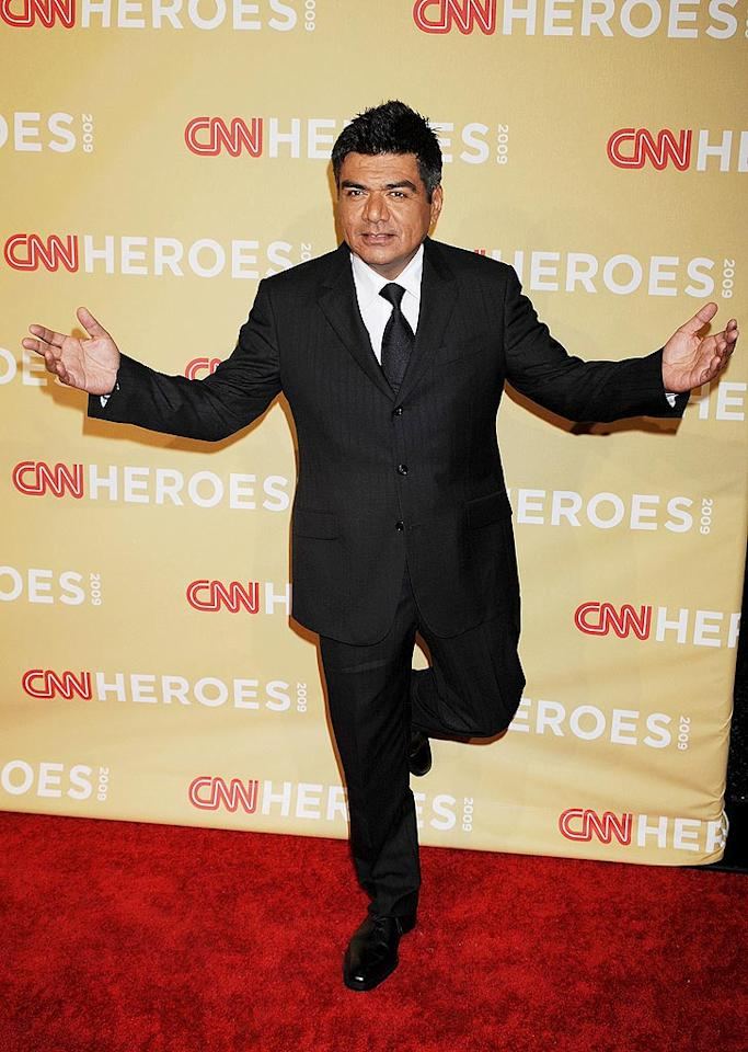 "Comedian George Lopez struck a pose on the red carpet. Jeffrey Mayer/<a href=""http://www.wireimage.com"" target=""new"">WireImage.com</a> - November 21, 2009"