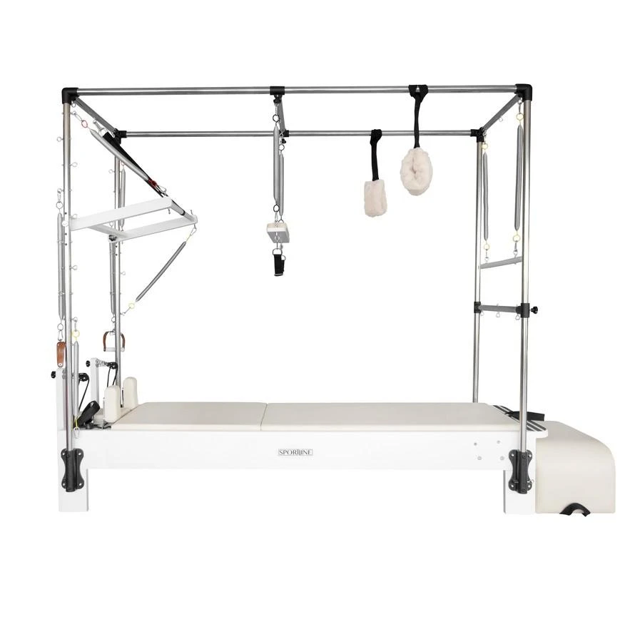 """<p><strong>Sportline™</strong></p><p>pilatesconnector.com</p><p><strong>$5495.00</strong></p><p><a href=""""https://www.pilatesconnector.com/products/sportline-superior-reformer-bundle?variant=37879682433198"""" rel=""""nofollow noopener"""" target=""""_blank"""" data-ylk=""""slk:Shop Now"""" class=""""link rapid-noclick-resp"""">Shop Now</a></p><p>If money and space are no object, you might as well invest in the ultimate home Pilates experience. With only 5-star reviews, the studio-ready Sportline reformer is <strong>sturdy, easy to assemble, and complete with every accessory you could want</strong>. (Plus, it's similar to <a href=""""https://www.womenshealthmag.com/fitness/a19973467/kate-hudson-pilates-workout/"""" rel=""""nofollow noopener"""" target=""""_blank"""" data-ylk=""""slk:Kate Hudson's"""" class=""""link rapid-noclick-resp"""">Kate Hudson's</a> reformer-Cadillac of choice.)</p><p><em>Additional reporting by Sanah Faroke</em></p>"""