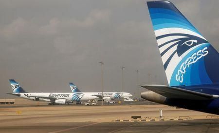 EgyptAir and EgyptAir Express planes are seen parked at Cairo Airport, November 1, 2016. REUTERS/Amr Abdallah Dalsh/Files