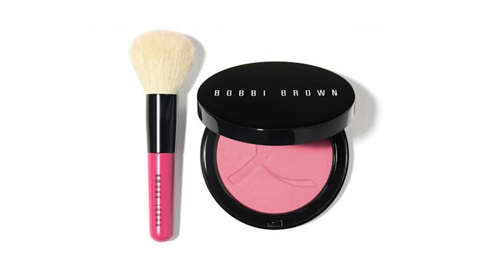 <p>Bobbi Brown's given its iconic Illuminating Bronzing Powder a facelift in aid of charity this month. This super flattering shade of rosy pink is designed to suit all skin tones and comes with a Mini Face Blender Brush. Some 20 per cent from every sale of the £35 set goes to the Breast Cancer Research Foundation. </p>