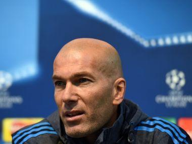 Real Madrid's French manager Zinedine Zidane. AFP
