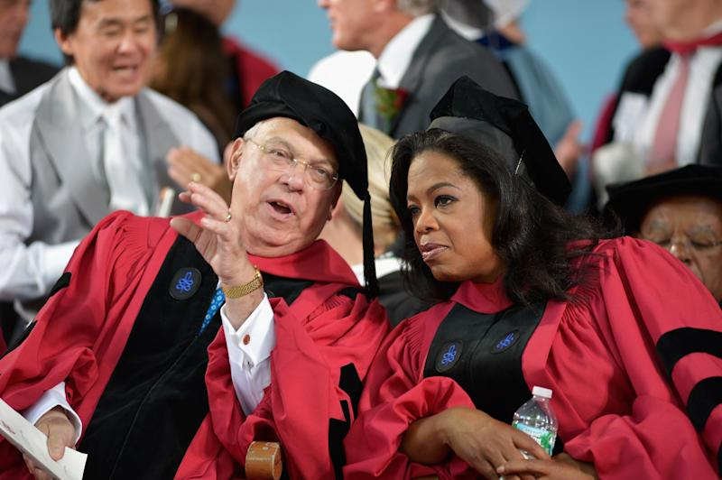 CAMBRIDGE, MA - MAY 30:  CAMBRIDGE, MA -  Oprah Winfrey and Boston Mayor Thomas M. Menino receive Honorary Degrees at 2013 Harvard University 362nd Commencement Exercises at Harvard University on May 30, 2013 in Cambridge, Massachusetts.  (Photo by Paul Marotta/Getty Images)