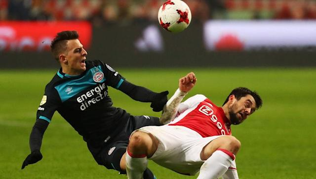 <p>The heavyweight derby for Holland kicks off this list as Europa League semi-finalists Ajax travel to Eindhoven - to battle over bragging rights and a potential league title.</p> <br><p>Ajax progressed past Schalke on Thursday night by the skin of their teeth, but they must now focus on the league and the Eredivisie title.</p> <br><p>Current champions PSV will be doing everything they can to prevent Ajax from closing the one point gap on current leaders Feyenoord, whilst Ajax can smell blood and will be intent on chasing down their 34th Dutch title.</p>