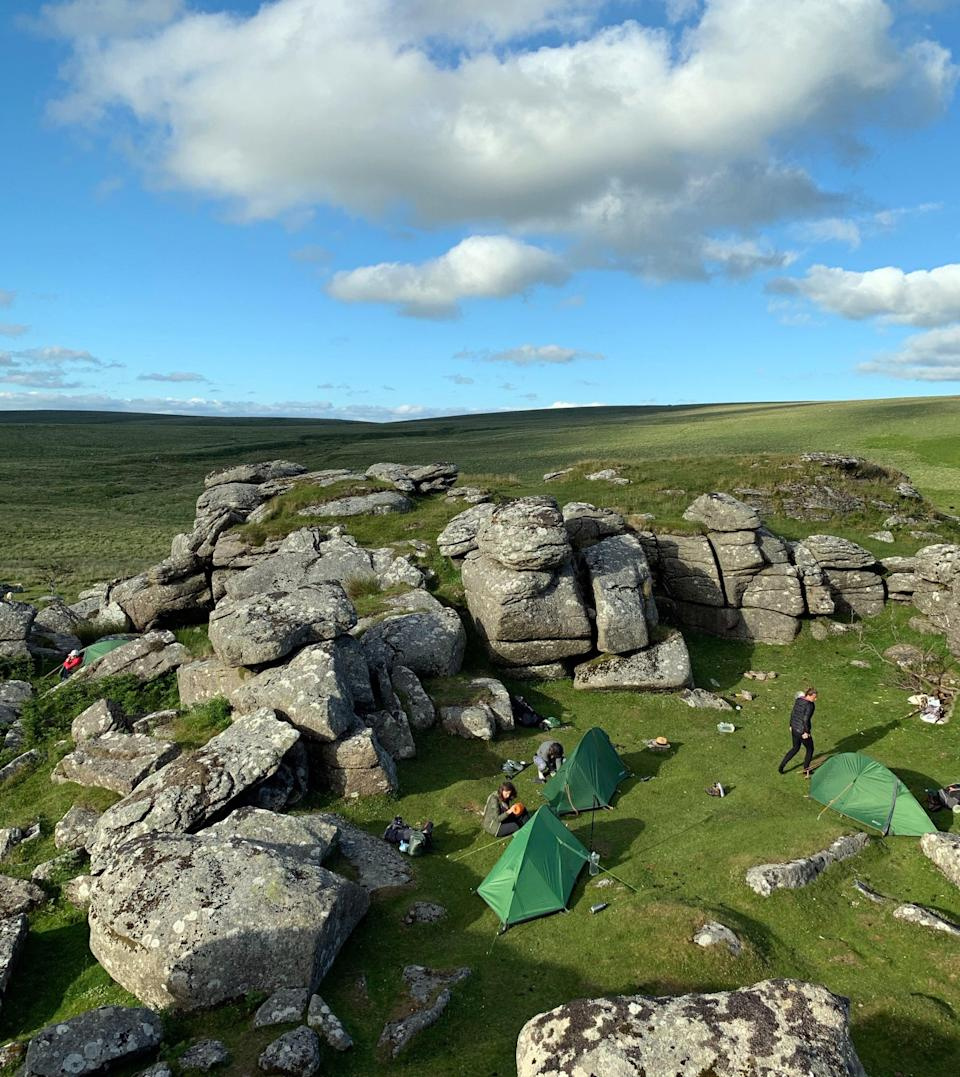 Mindful wild camping in Dartmoor National Park