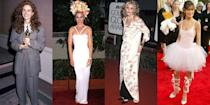 <p>From looks that were far too casual for the ceremony to wearing two different colored shoes—we're looking back at the most memorable red carpet misses. </p>