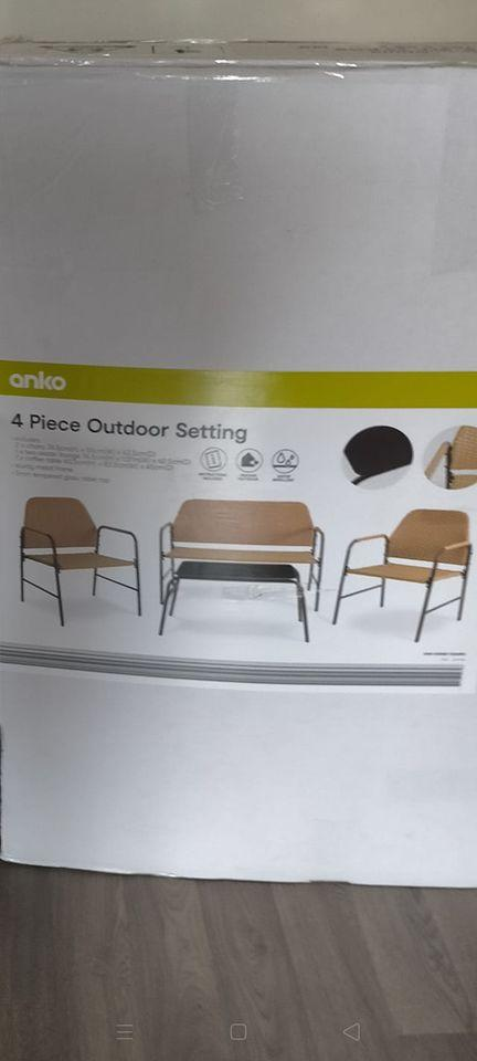 The Anko '4 Piece Outdoor Setting' is perfect for summer at $229. Photo: Facebook.