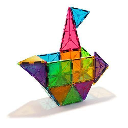 """<p><strong>Magna-Tiles</strong></p><p>amazon.com</p><p><strong>$49.97</strong></p><p><a href=""""https://www.amazon.com/dp/B000CBSNKQ?tag=syn-yahoo-20&ascsubtag=%5Bartid%7C10055.g.26670041%5Bsrc%7Cyahoo-us"""" rel=""""nofollow noopener"""" target=""""_blank"""" data-ylk=""""slk:Shop Now"""" class=""""link rapid-noclick-resp"""">Shop Now</a></p><p>Offering endless hours of fun, Magna-Tiles are a creative way to <strong>introduce educational topics like shapes, colors, engineering, principles of magnets, symmetry,</strong> and more. They're also great for helping develop fine motor skills. Various sets are available with different piece counts and color options (think: <a href=""""https://www.amazon.com/Magna-Tiles-18716-Award-Winning-Educational-Translucent/dp/B07GZD2WZ5?tag=syn-yahoo-20&ascsubtag=%5Bartid%7C10055.g.26670041%5Bsrc%7Cyahoo-us"""" rel=""""nofollow noopener"""" target=""""_blank"""" data-ylk=""""slk:clear"""" class=""""link rapid-noclick-resp"""">clear</a>, <a href=""""https://www.amazon.com/Magna-Tiles-02300-Solid-Colors-Piece/dp/B000CBR4X8?tag=syn-yahoo-20&ascsubtag=%5Bartid%7C10055.g.26670041%5Bsrc%7Cyahoo-us"""" rel=""""nofollow noopener"""" target=""""_blank"""" data-ylk=""""slk:colored"""" class=""""link rapid-noclick-resp"""">colored</a>, <a href=""""https://www.amazon.com/Magna-Tiles%EF%83%92-16-Piece-Glow-Dark-Award-Winning/dp/B07H14DXLF?tag=syn-yahoo-20&ascsubtag=%5Bartid%7C10055.g.26670041%5Bsrc%7Cyahoo-us"""" rel=""""nofollow noopener"""" target=""""_blank"""" data-ylk=""""slk:glow-in-the-dark"""" class=""""link rapid-noclick-resp"""">glow-in-the-dark</a>, and so on). <em>Ages 3+</em></p>"""