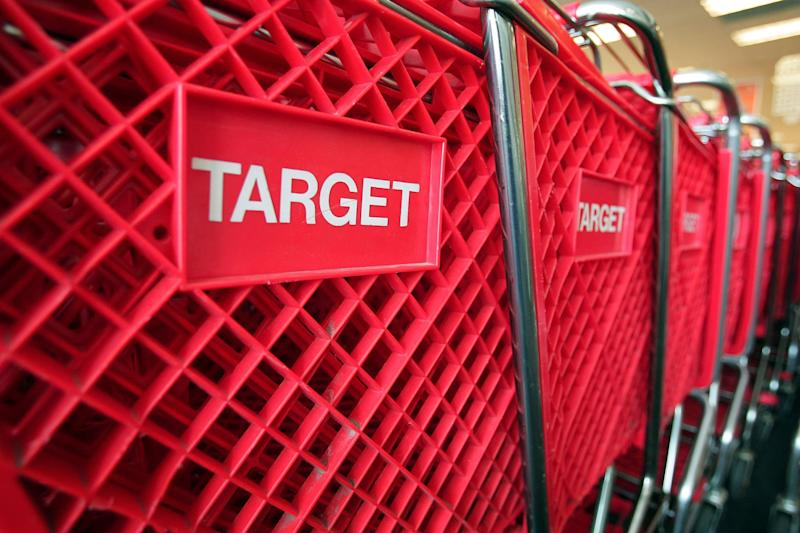 CHICAGO - MAY 23: Shopping carts sit inside a Target store on May 23, 2007 in Chicago, Illinois. Today, Target Corp. reported an 18 per cent increase in their first-quarter profit, beating analysts' expectations. (Photo by Scott Olson/Getty Images)