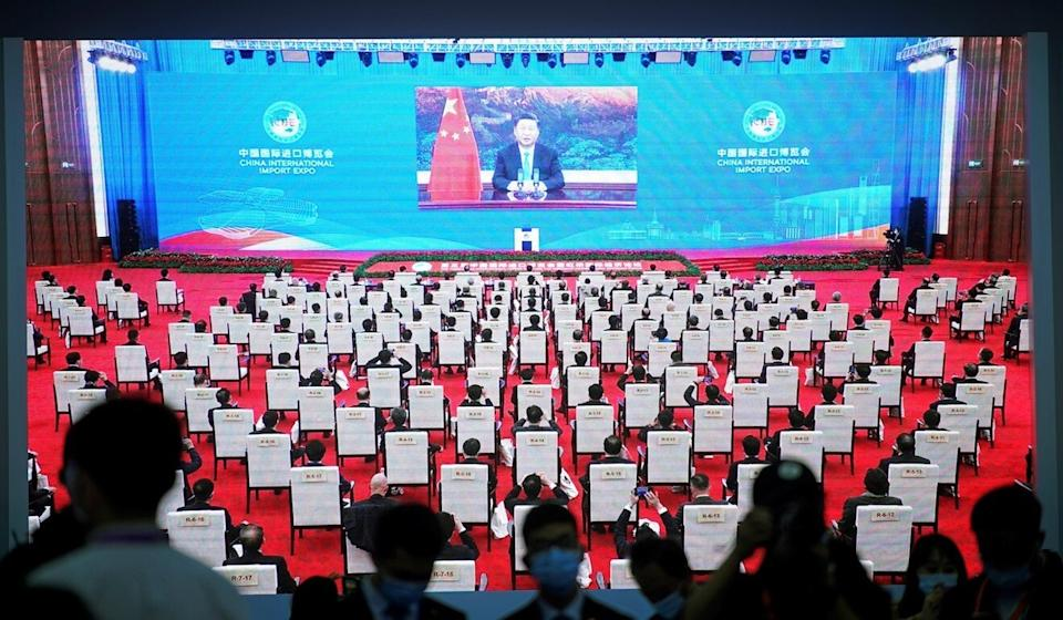 """Xi said China's vast population, including 400 million middle-income earners, was """"a market for the world"""". Photo: Reuters"""