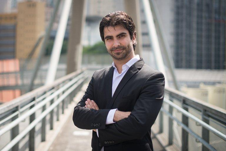 Eduardo Borges, Brazil's representative of Ashley Madison, poses for a photo in Sao Paulo, Brazil, on December 10, 2012. Canada's Ashley Madison is an online dating service, created for married people who wish to cheat on their partners