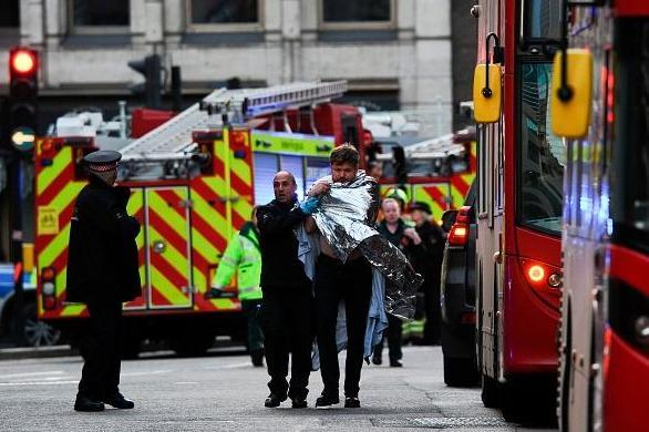 Two people were killed and several others wounded in the London Bridge attack (AFP via Getty Images)
