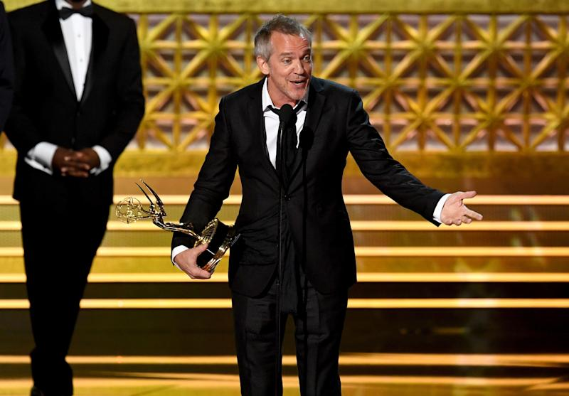 Director Jean-Marc Vallee accepts Outstanding Directing for a Limited Series, Movie, or Dramatic Special for 'Big Little Lies' onstage during the 69th Annual Primetime Emmy Awards at Microsoft Theater on Sept. 17, 2017 in Los Angeles, California.