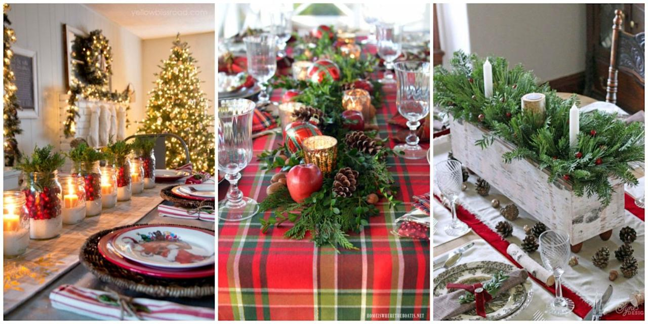 49 Breathtaking Christmas Table Settings Centerpieces