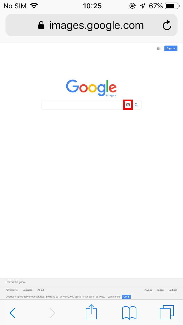 Reverse image search Google in iOS