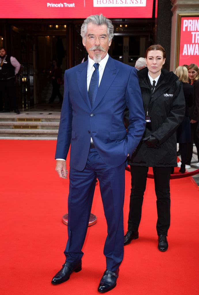 Pierce Brosnan hasn't lost is 007 soave, pictured in 2020. (Getty Images)