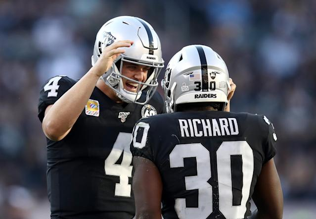 Derek Carr has been one of the NFL's most efficient quarterbacks this season. (Getty Images)