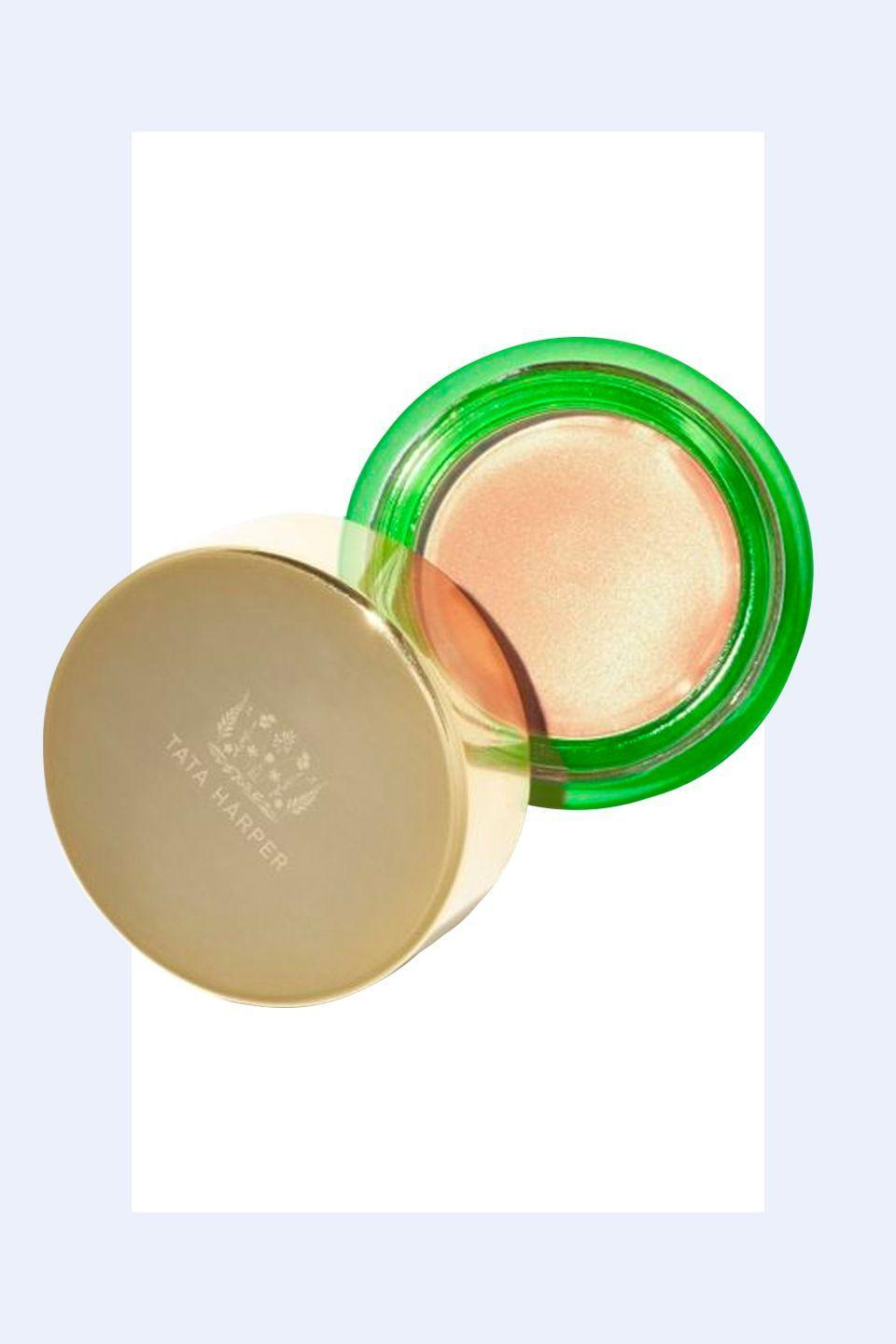 """<p>""""Warmer tones of <strong>highlighter with sheen and light reflection</strong> generally work better as we age. Apply it to you upper cheek bones and the décolletage area, not you whole face.""""—<em>Jillian Dempsey, celebrity makeup artist and founder of Jillian Dempsey.</em></p>"""