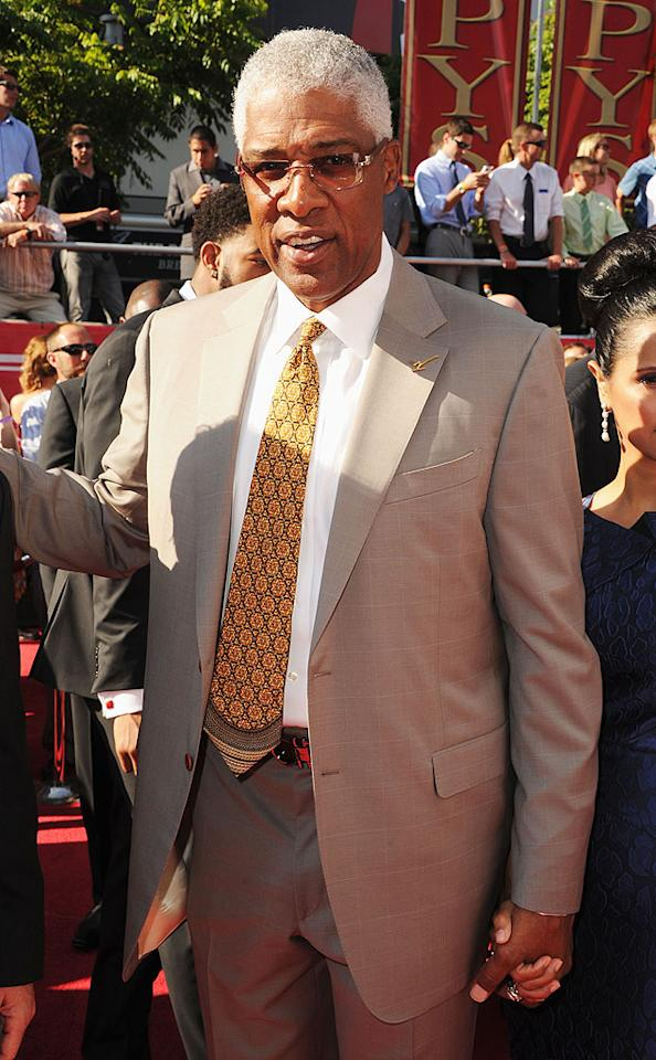 Basketball Hall of Famer Julius Irving (aka Dr. J) arrives at the 2012 ESPY Awards.