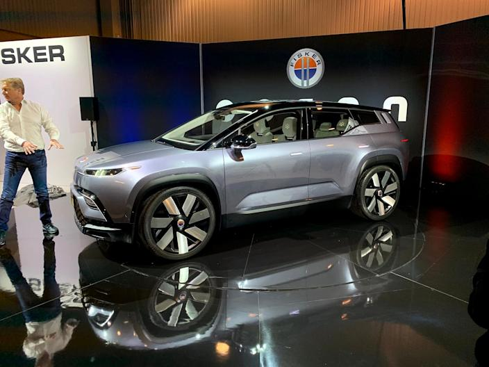 Henrik Fisker presents the Fisker Ocean SUV.