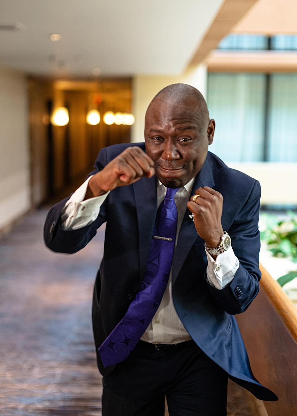 """Attorney Ben Crump poses for a photograph on June 7, 2020, at a Houston hotel.<span class=""""copyright"""">Ruddy Roye for TIME</span>"""