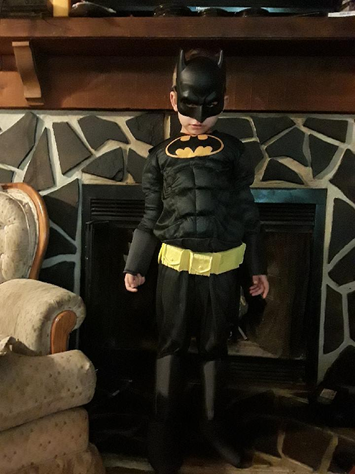 Damon, 6, has a new Batman costume for Halloween after losing his in an RV fire. (Photo: Edneyville Fire & Rescue)
