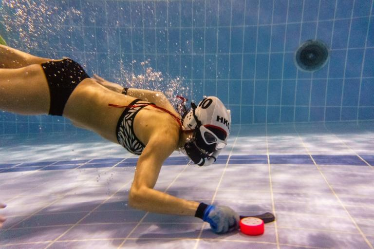 Underwater hockey is taking off in Hong Kong
