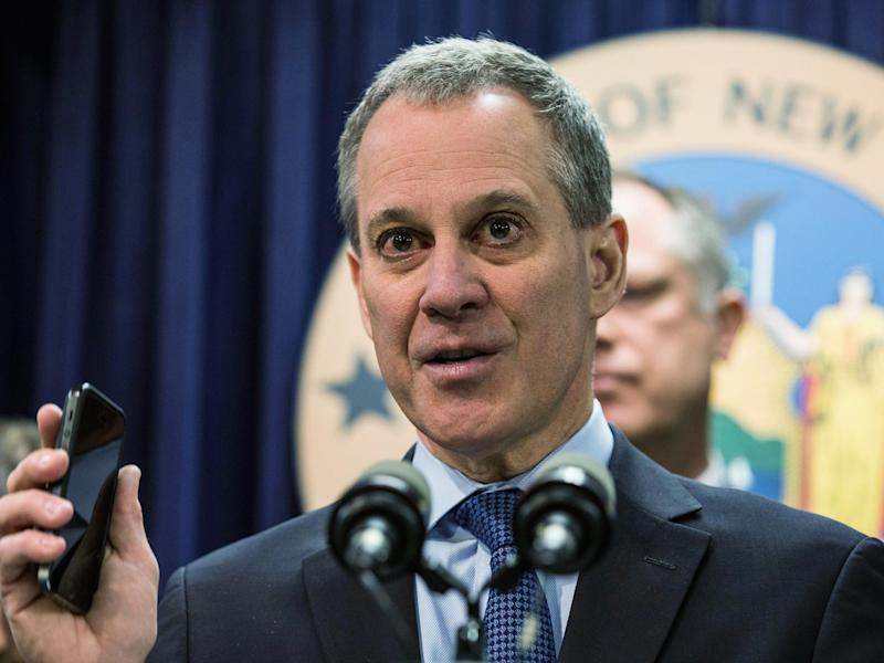 Eric Schneiderman, the New York attorney general, has strengthened his team, as he looks to oppose Donald Trump through the US legal system: Getty Images