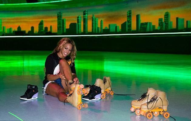 Beyonce spent time Friday night roller skating ith husband and friends. Source: beyonce.com