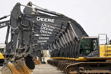 FILE PHOTO: Equipment for sale is seen at a John Deere dealer in Denver