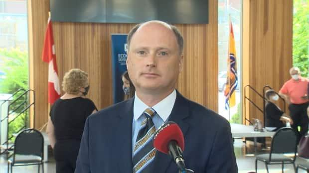 Post Secondary Education, Training and Labour Minister Trevor Holder said New Brunswick colleges and universities will make their own decisions about COVID-19 protocols and when to resume in-person classes.