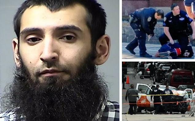 New York terrorist Sayfullo Saipov was apprehended after NYPD officer Ryan Nash shot him - Getty Images