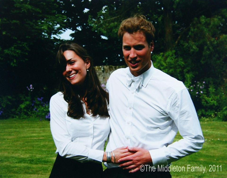 <p>Posing with Prince William on the day of their graduation ceremony at St Andrew's University in Scotland.</p>